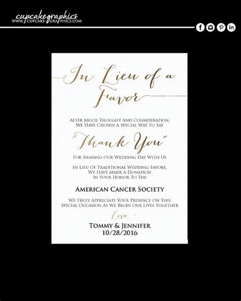 Thank You Note For Donation In Lieu Of Flowers Best 10 Donation Wedding Favors Ideas On Affordable Wedding Favours Wedding Favour