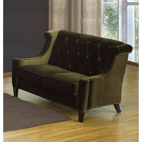 barrister loveseat armen living barrister velvet loveseat in green lc8442green