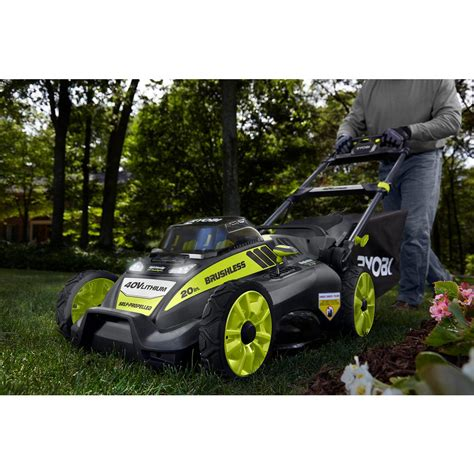 lightweight electric lawn mower cordless self propelled lawn mower 40 volt brushless