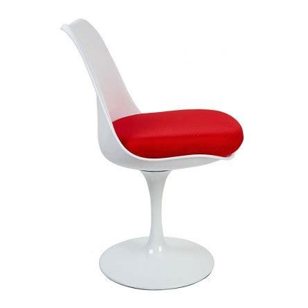 cuscino rosso sedia girevole robusta tulip saarinen cuscino rosso