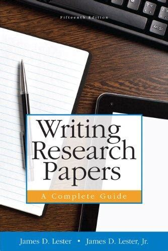 9780321952943 writing research papers a complete guide