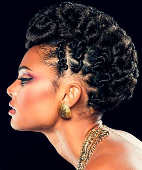 Black Twisted Updo Hairstyles by Hairstyles For American And