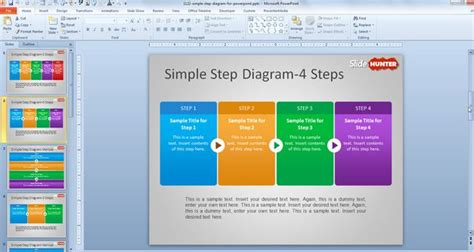 step by step process template free simple step diagram for powerpoint