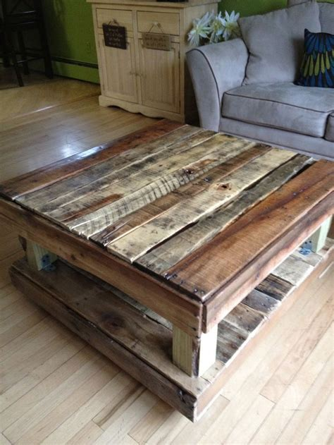 coffee table made from paint pallets simple past