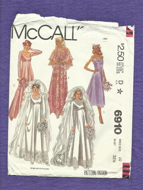 garment pattern engineering vintage 1979 mccalls 6910 wedding dresses sewing