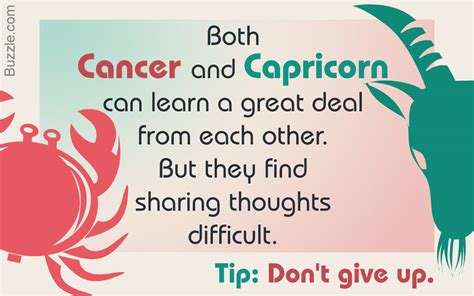 interesting information on the cancer and capricorn
