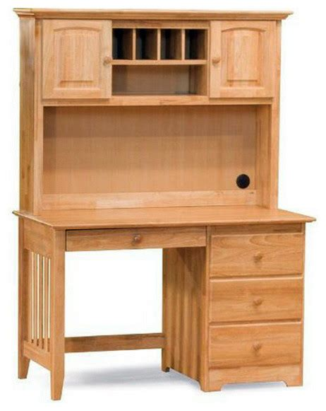 wood computer desk with hutch set traditional