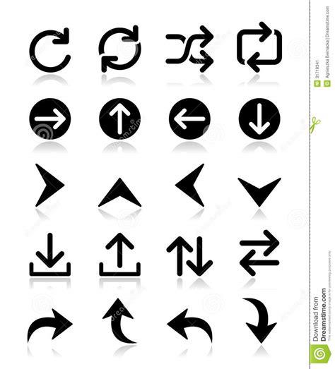 arrow icon sets isolated  white stock image image