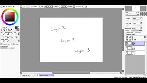 How To Select Move Layers In Paint Tool Sai