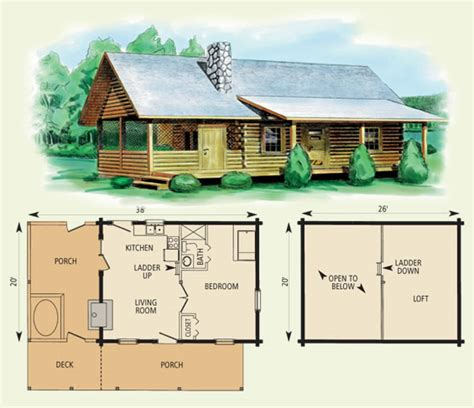 Free Log Home Floor Plans - the best cabin floorplan design ideas