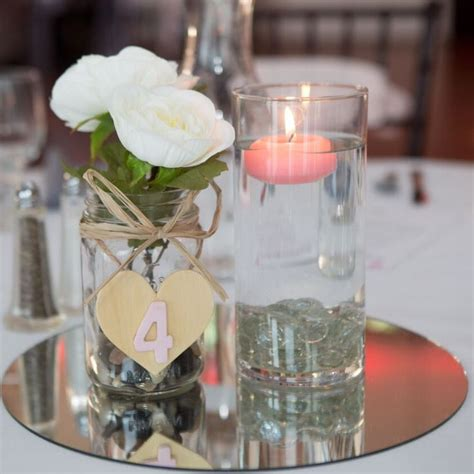 mirror centerpieces for tables 436 best images about wedding centerpieces on