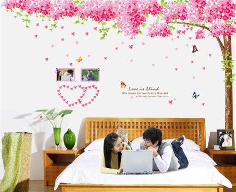 fiori di ciliegio e farfalle 50 adesivi murali per la decorazione delle pareti di casa