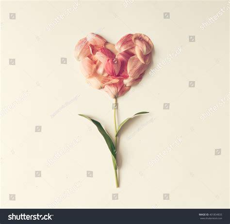 love heart made of flowers flower in shape of a heart made of tulip petals love
