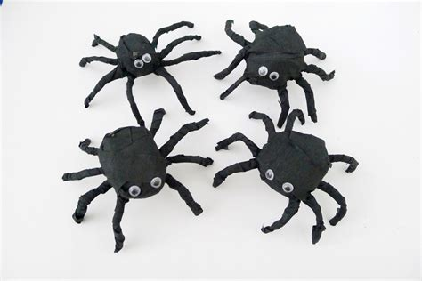 paper spider crepe paper spiders fun family crafts