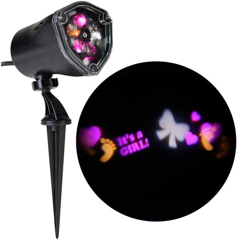 applights led projection snowflurry 49 programs stake light gemmy projection stake outdoor decoration