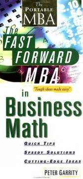 Mba Math by The Fast Forward Mba In Business Math 2000 Edition