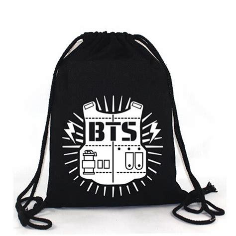 String Bag Tas Serut Bts kpop bts bangtan boy backpack bts shoulder bag string bag in storage bags from home garden on