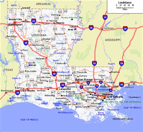 map of louisiana cities map of louisiana