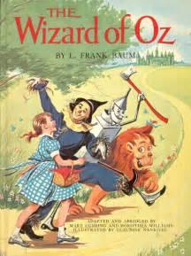 Wizard of oz vintage book frank baum illustrated childrens book