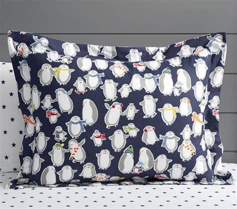 penguin crib bedding penguin flannel duvet cover pottery barn kids