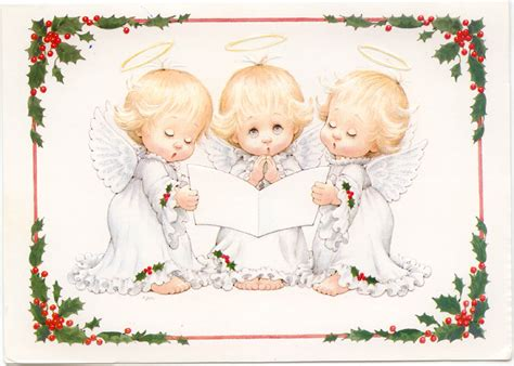 singing angels christmas cards from the past marges8 s blog