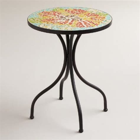 flower accent table flower cadiz mosaic accent table world market