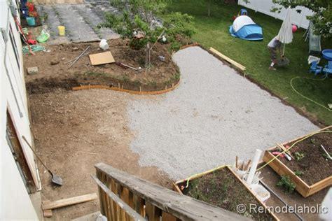 Diy Patio Remodelaholic Diy Concrete Patio Part One
