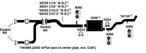 Gmc Sierra 1500 Exhaust Diagram From Best Value Auto Parts