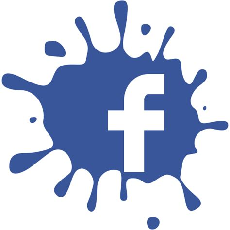 facebook themes transparent facebook splat f logo transparent 38369 free icons and