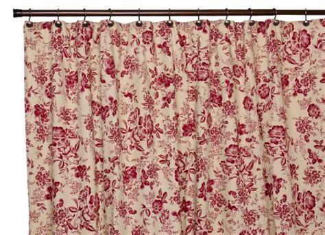 red floral shower curtain ellis curtain palmer floral toile bathroom shower curtain