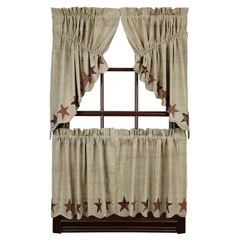 curtains 24 x 36 abilene star curtain tiers 36 quot w x 24 quot l