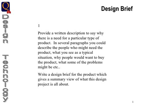 design brief definition ks3 gcse graphic products portfolio guidelines