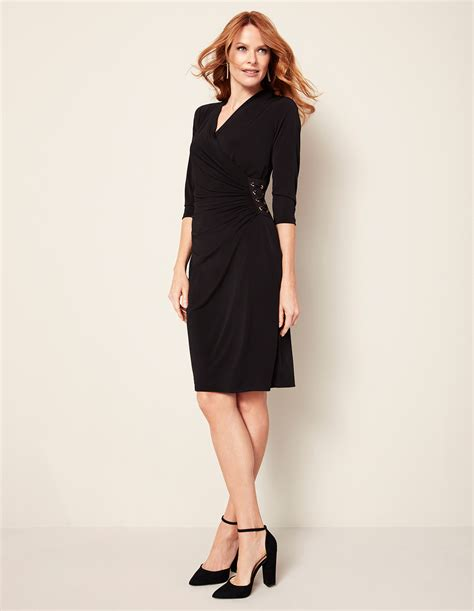 Dress Sabrina Cleo Black black lace up shift dress cleo