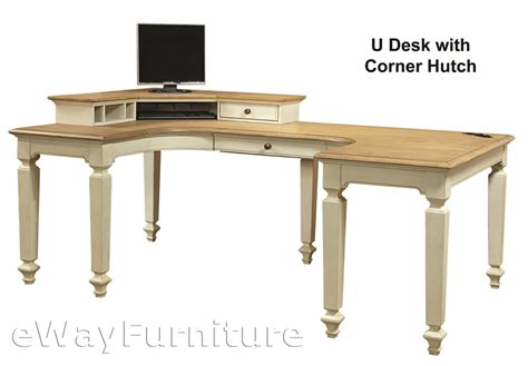 antique white corner desk charleston antique white u desk with corner hutch