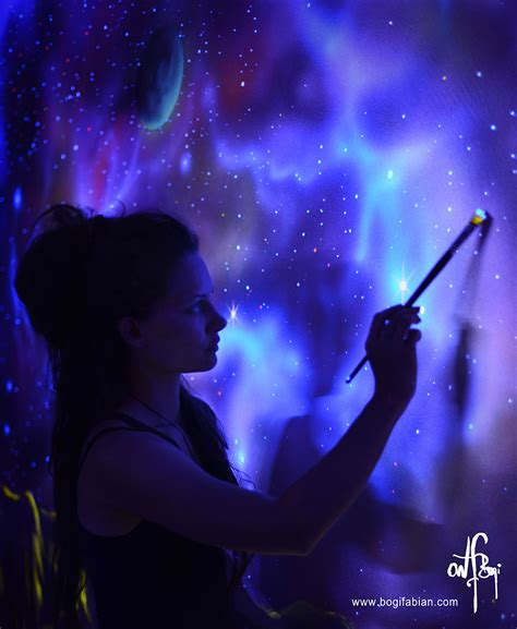 glow in the painting artist artist paints rooms with murals that glow blacklight