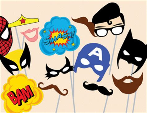 printable superhero photo booth props free superhero birthday party printable magical printable