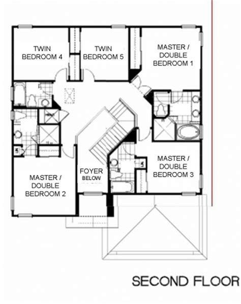 shared bathroom floor plans crystal palm villa floor plans