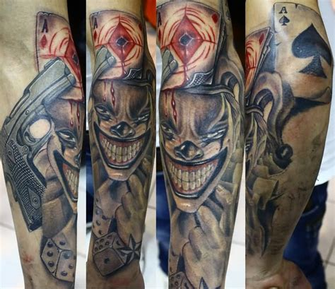 joker tattoo gun joker tattoo great playing card joker design