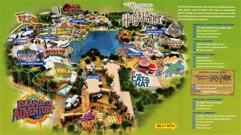 universal studios orlando adventure island map of islands of adventures universal studios park map
