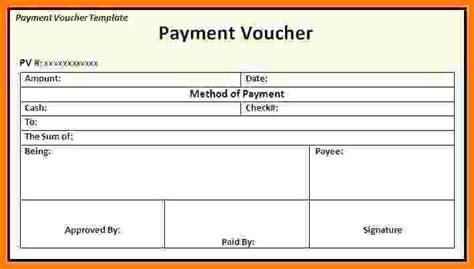 6 salary payment voucher template sales slip template