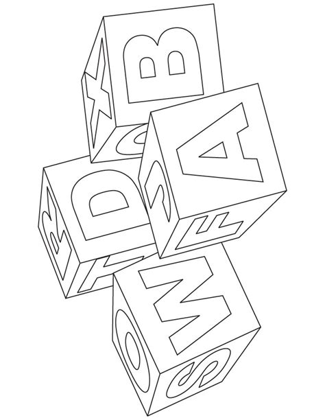 Blocks Coloring Pages Coloring Pages Block Coloring Pages