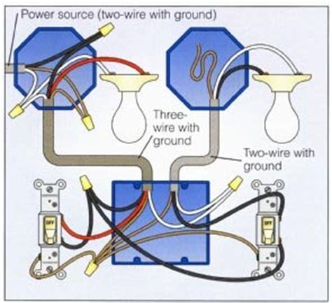 how to wire a house light wiring a 2 way switch