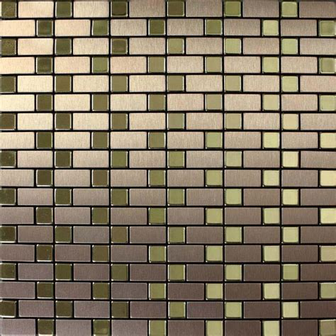 metallic wall tiles kitchen brushed metallic mosaic tiles stainless steel kitchen
