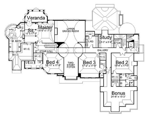 edwardian house floor plans european french home with 5 bdrms 8280 sq ft house