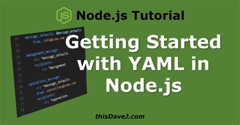 node js official tutorial getting started with yaml in node js using js yaml thisdavej