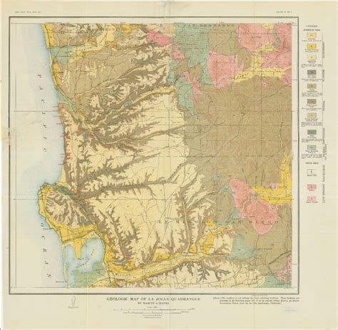 geologic map san jose quadrangle sdag historical geological maps san diego county