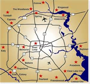 houston suburbs map houston homes relocation and real estate for houston tx
