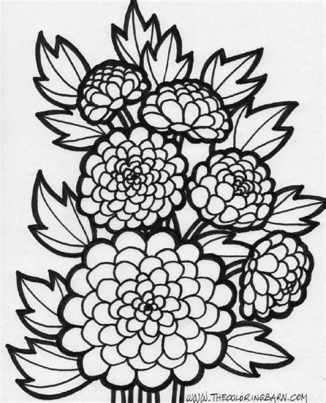 Coloring Page Flowers by Flower Coloring Sheets Free Coloring Sheet
