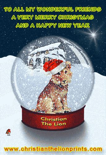 new year cards australia christian george adamson david attenborough world