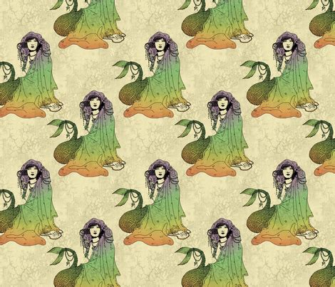 mermaid upholstery fabric mermaid fabric ophelia spoonflower